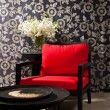 Black red Chair — Stock Photo