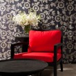 Black red Chair — Foto Stock