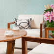 Brown white furniture in a living room — Stock Photo