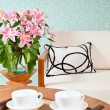 Bright white furniture in a living room — Stock Photo #22006497