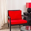 Black red Chair and side table — Stock Photo #22216991