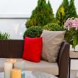 Outdoor patio seating area — Stock Photo #22356027