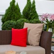 Stock Photo: Outdoor patio seating area