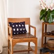 图库照片: Brown Chair in interior setting