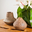 Stock Photo: Vases and flowers as interior decoration