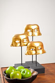 Golden masks — Stock Photo