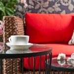 Beautiful basketwork furniture — Stock Photo #22744605