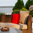 Outdoor patio seating area — Stock Photo #22745177