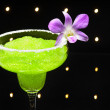 Green margarita cocktail — Stock Photo