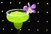 Green margarita cocktail — Stock Photo