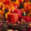 Autumn candles — Stock Photo #25656903