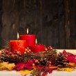 Autumn candles - Stock fotografie