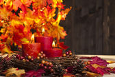 Autumn candles — Stock fotografie