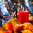Autumn candles - Foto Stock