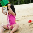 Toddler at the beach — Stock Photo