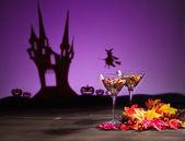 Cadılar bayramı ortamda tatlılar — Stok fotoğraf