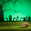 Zombie hands and graveyard — Stock Photo #26707979