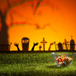 Zombie hands and graveyard — Stock Photo #26708159