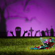 Zombie hands and graveyard — Stock Photo #26708365