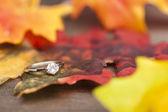 Anello di fidanzamento diamante — Foto Stock