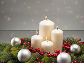 Advent wreath — Stockfoto