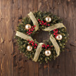 Advent Christmas wreath decoration — Stock Photo