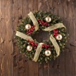 Stock Photo: Advent Christmas wreath decoration