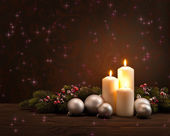 Advent Christmas wreath — Foto Stock