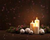 Adventní vánoční věnec — Stock fotografie
