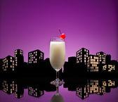 Metropolis Pina colada cocktail — Stock Photo