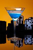 Metropolis Blue Martini — Stock Photo