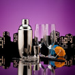 Stock Photo: Metropolis Bartender tools