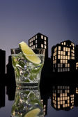 Metropolis Mojito cocktail — Stock Photo