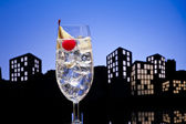 Metropolis Gin Tonic tom collins cocktail — Stock Photo
