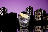 Metrópole gim tônica cocktail — Fotografia Stock
