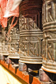 Boudhanath temple bells in the Kathmandu valley — Stock Photo