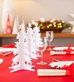 Kerst tabel decoratie — Stockfoto