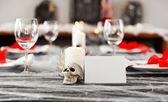 Configuração de tabela de jantar de halloween — Fotografia Stock