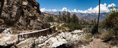 Entrance to Santa Cruz Trek, Peru,  — Foto Stock