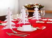 Kerst dinertafel — Stockfoto