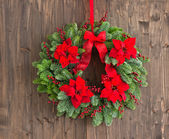 Advent wreath with winter rose — Foto de Stock