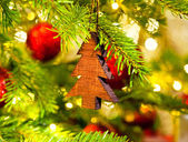 Ornament in a Christmas tree — Stok fotoğraf