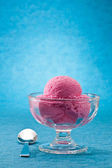 覆盆子冰淇淋 — 图库照片