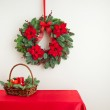 Advent wreath over side board — Stock Photo #43991947