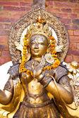 Sculpture of deity, Kathmandu, Durbar square, Nepal  — Stock Photo