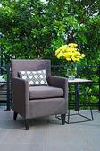 Outdoor patio seating  — Stock Photo