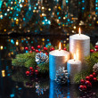 Three Silver Candles — Stock Photo #48261697