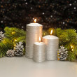 Three Silver Candles — Stock Photo #48668673