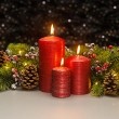 Three red Candles — Fotografia Stock  #48668879