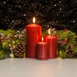Three red Candles — Fotografia Stock  #48668981